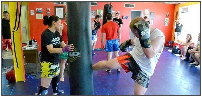 Training Muay Thai at Grizzly Gym in Kingston